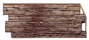Фасадные панели Жёлто-коричневый 1090x460 мм Скала FINEBER