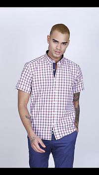 Мужские рубашки (короткий рукав) клетка