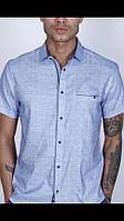 Мужские рубашки (короткий рукав) однотонные