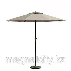 Зонт летний ART.Home с подставкой (d=2.7м), зеленый/бронза/бежевый