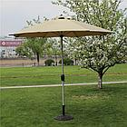 Зонт летний ART.Home с подставкой (d=2.7м), зеленый/бронза/бежевый, фото 3