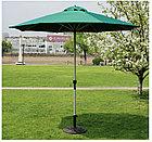 Зонт летний ART.Home с подставкой (d=2.7м), зеленый/бронза/бежевый, фото 7