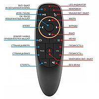Пульт аэромышь Air Mouse G10S, с гироскопом и голосовым управлением для Android TV Box, PC