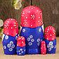Матрёшка «Василиса», красно-розовый микс, 5 кукольная, 12 см, фото 2