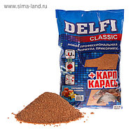 Прикормка Delfi Classic карп/карась, карамель/ваниль, вес 0,8 кг