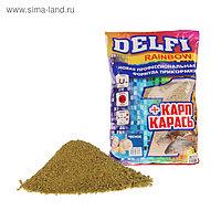 Прикормка Delfi Rainbow Карп-Карась чеснок, зелёный, вес 0,8 кг.