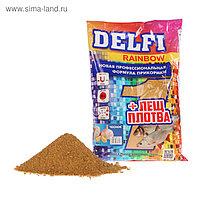 Прикормка Delfi Rainbow Лещ-Плотва чеснок, желтый, вес 0,8 кг.