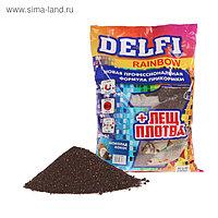 Прикормка Delfi Rainbow Лещ-Плотва шоколад/кокос, черный, вес 0,8 кг.