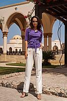 Женский летний трикотажный фиолетовый джемпер Vesnaletto 2630 42р.