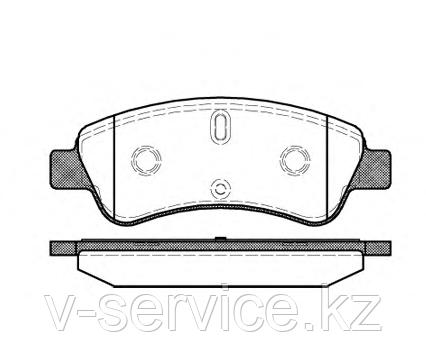Тормозные колодки YOTO G-477(MD 8309)(REMSA 840.10)
