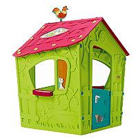 KETER Игровой Дом Magic Волшебный с петушком, Салатовый/малиновый