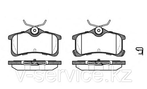 Тормозные колодки YOTO G-489(MD 2220)(REMSA 1050.02)