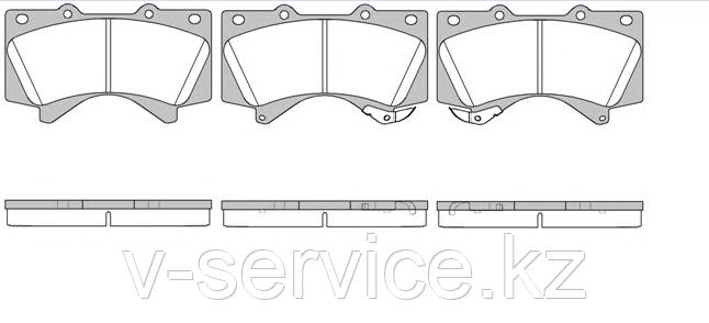 Тормозные колодки YOTO G-508(MD 2278M)(REMSA 1271.02)