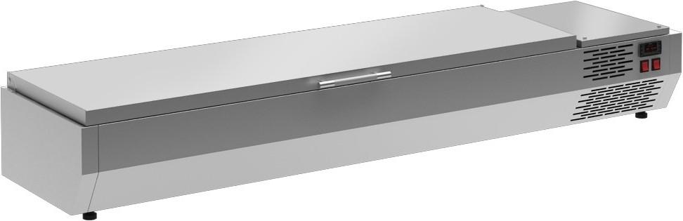 Настольные охлаждаемые витрины Polair (ВИТРИНЫ ДЛЯ ИНГРЕДИЕНТОВ) с откидной крышкой