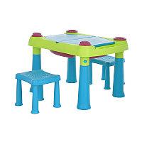 KETER Стол CREATIVE для детского творчества и игры с водой и песком, Зеленый/Фиолетовый 32765   KETER Стол