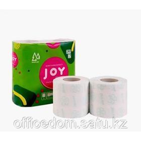"Бумага туалетная ""Joy"" 3-слойная 100% целлюлоза, 4 рул/упак"