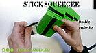 """Ракель UZLEX EASY STICK простой мягкий зеленый 4"""" с тремя двойными насадками (фетр, UZLEX FIBER, тефлон), фото 2"""