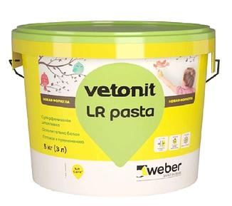 Шпатлевка суперфинишная под окраску и обои weber.vetonit LR pasta