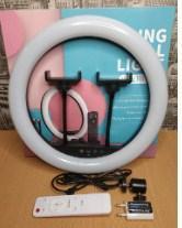 Кольцевая лампа RING FILL LIGHT LC-328  для 2 телефонов, с пультом, 33 см