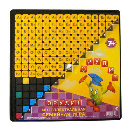 Настольная игра Эрудит. Желтые фишки, 7+