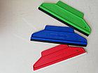 Шпатели с резиновой вставкой 2 в 1, 195*65 мм, красный жесткий, фото 2