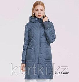 Женская весенняя серо-голубая куртка