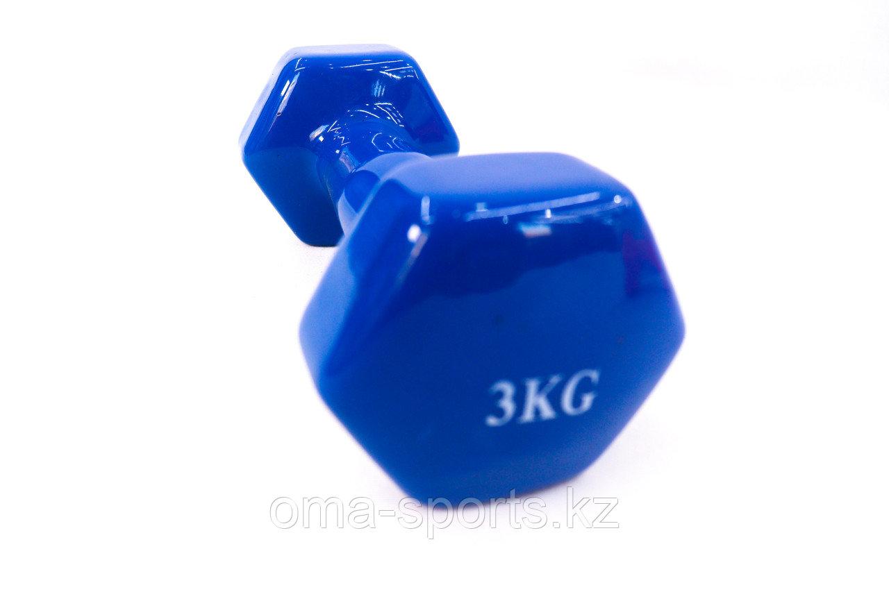 Гантели резиновые 3 кг - фото 1