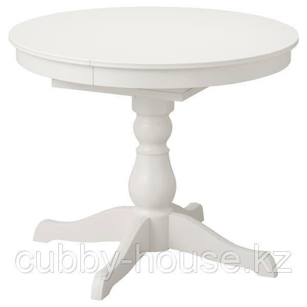 INGATORP ИНГАТОРП Раздвижной стол, белый90/125 см