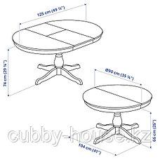 INGATORP ИНГАТОРП Раздвижной стол, белый90/125 см, фото 3