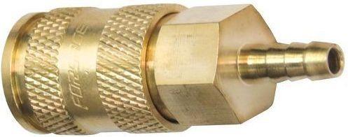 """Быстроразъем пневматический с клапаном -""""елочка"""" 6мм (латунь) Forsage F-BSE1-2SH"""