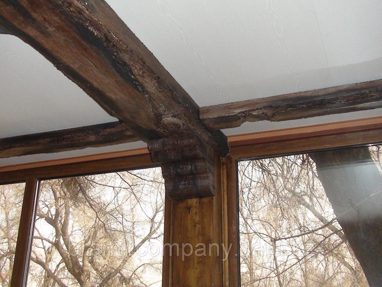 Балки для интерьера с имитацией дерево - фото 4
