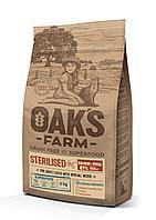 OAKS FARM GF сухой корм для стерилизованных кошек Лосось и Криль 2кг, фото 1