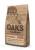OAKS FARM GF сухой корм для стерилизованных кошек Лосось и Криль 18кг