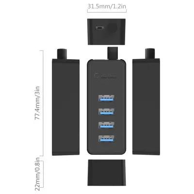USB Хаб ORICO W5P-U3-100-BK-BP