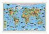 """Карта мира на рейках """"Животный и растительный мир"""" 101х69 см"""
