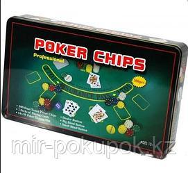 Набор для игры в покер «Poker Chips Professional», 300 фишек