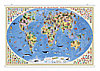 "Настенная карта на рейках ""Страны и народы мира"" 101х69 см ЛАМ."