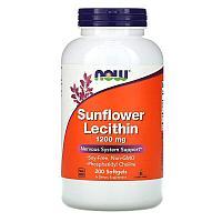Now Foods, подсолнечный лецитин, 1200 мг, 200 капсул