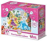 Пластмассовые кубики «Королевские питомцы» Disney (12 шт)