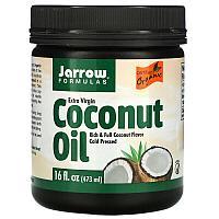 Jarrow Formulas, органическое кокосовое масло холодного отжима, отжатое шнековым прессом, 473 мл (16 жидк. унц