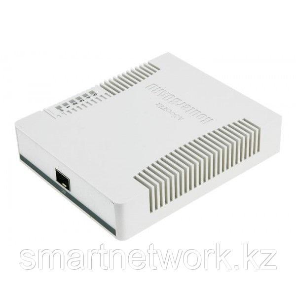 Коммутатор MikroTik CSS106-5G-1S, 5x10/100/1000 Ethernet, 1xSFP 1000, DDMI, SwOS