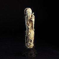 Окимоно «Эбису» символ счастья, удачи и карьерного роста. Слоновая кость.
