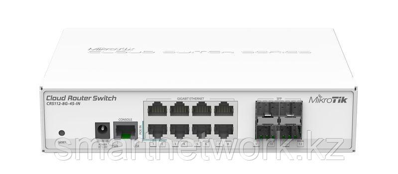Управляемый коммутатор MikroTik серии Cloud Routing Switch, оснащенный 8 портами 100/1000 Мбит