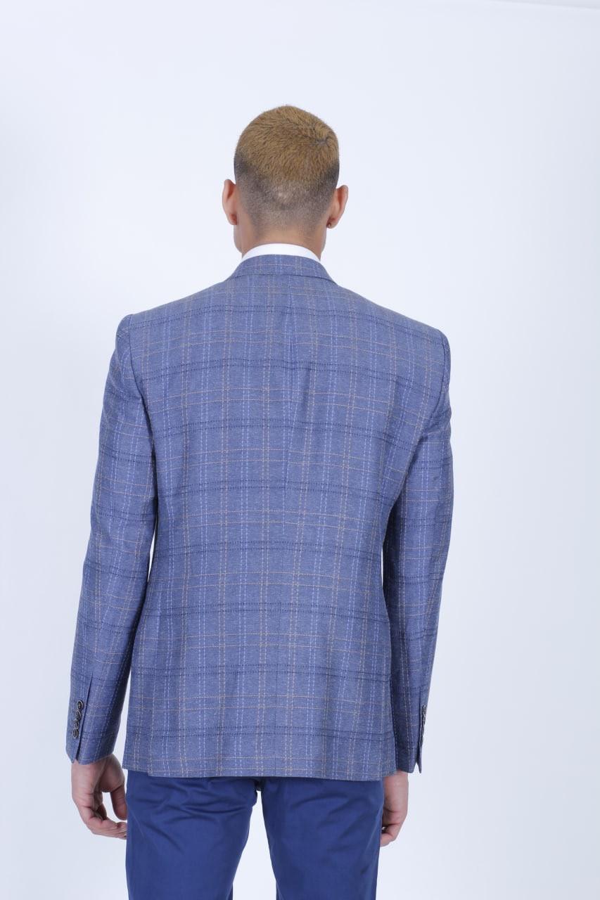 Клетчатый мужской пиджак - фото 3