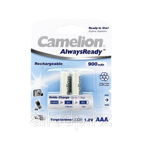 Аккумулятор, CAMELION, NH-AAA900ARBP2, AlwaysReady Rechargeable, AAA, 1.2V, 900 mAh, 2 шт., Блистер