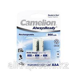 Аккумулятор, CAMELION, NH-AAA900ARBP2, AlwaysReady Rechargeable, AAA, 1.2V, 900 mAh, 2 шт., Блистер