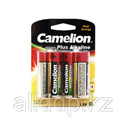 Батарейка, CAMELION, Plus Alkaline, LR20-BP2, D, 1.5V, 21000 mAh, блистер 2 шт.