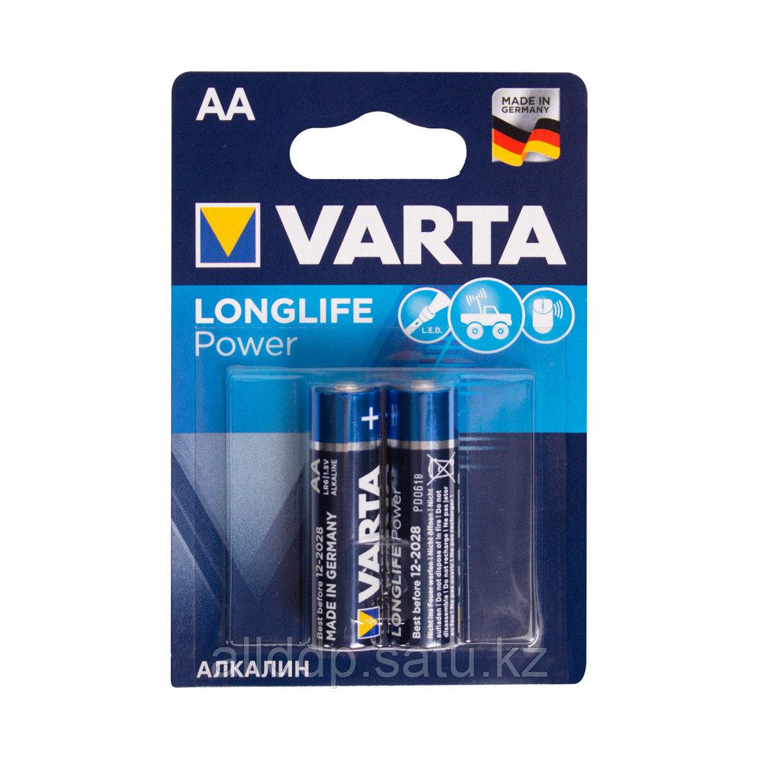 Батарейка VARTA Long Life Power Mignon 1.5V - LR6/ AA (2 шт) (4906)