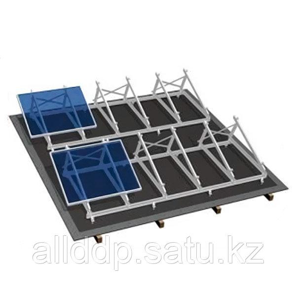 Комплект для плоской крыши на 4 модуля, алюминий
