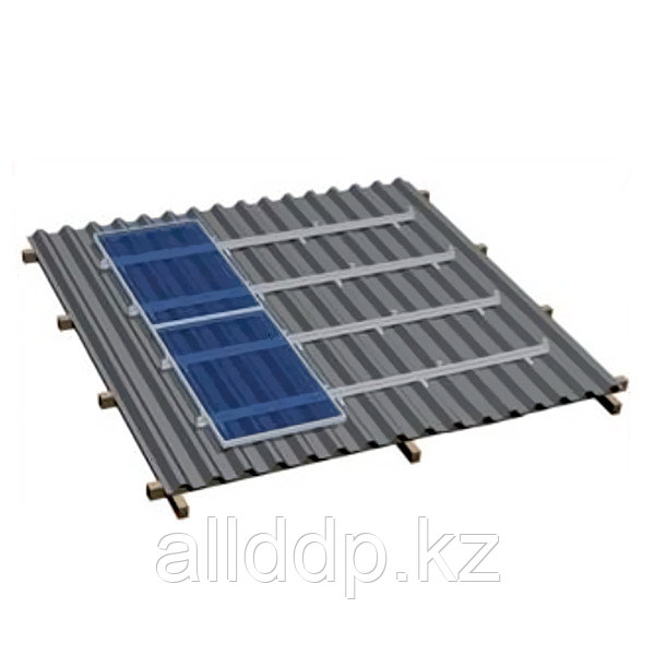 Комплект для наклонной крыши на 26 модулей, оцинковка